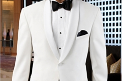 White Classic Shawl Collar